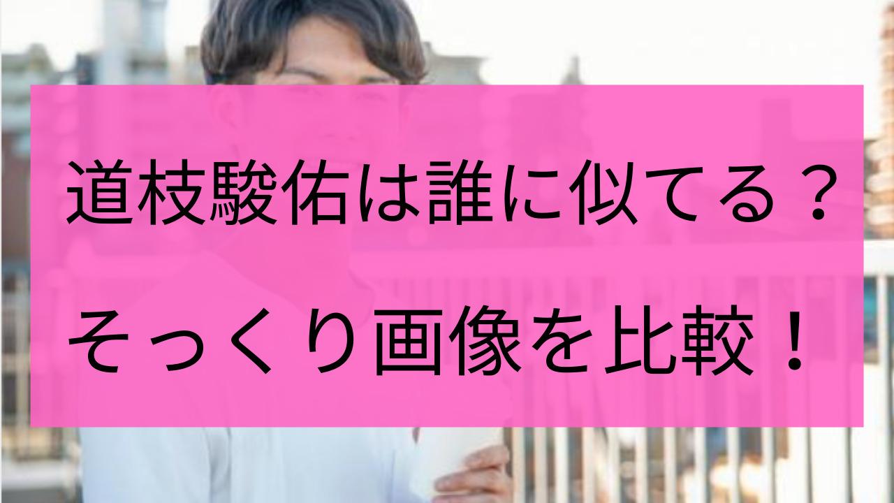 道枝駿佑に似てる有名人9選!